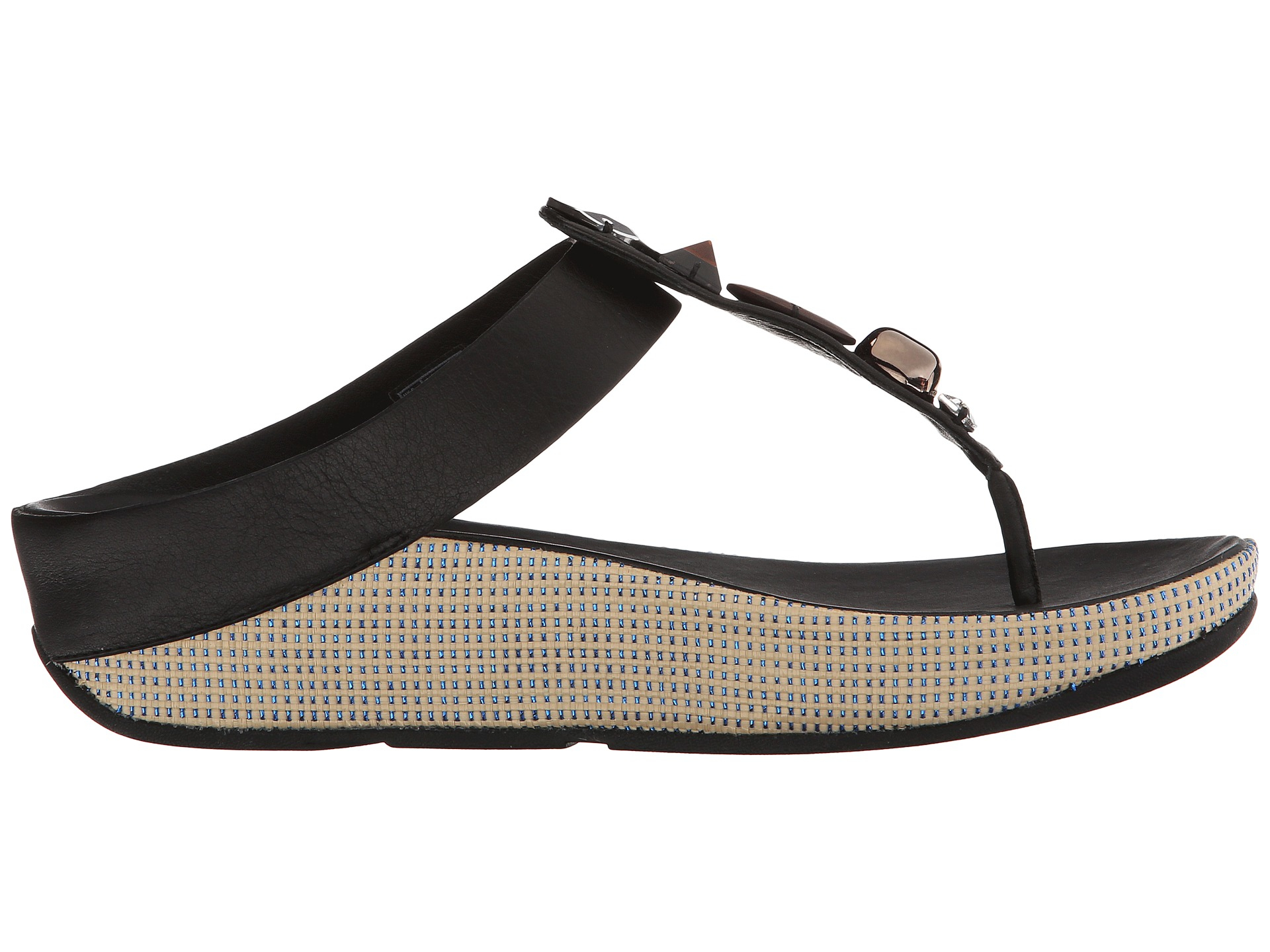 35eac4d937d8 Lyst - Fitflop Jeweley Toe Post in Black
