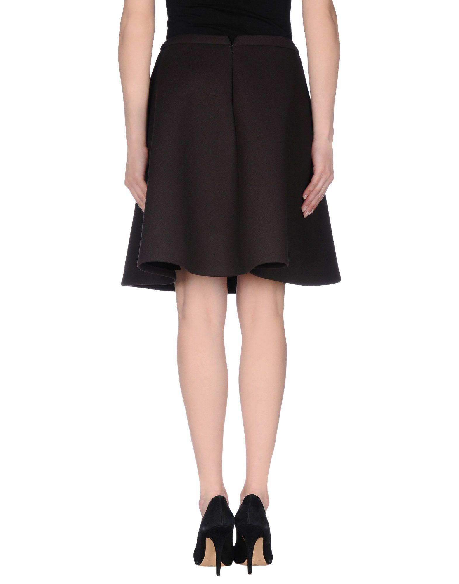 neil barrett knee length skirt in brown brown lyst