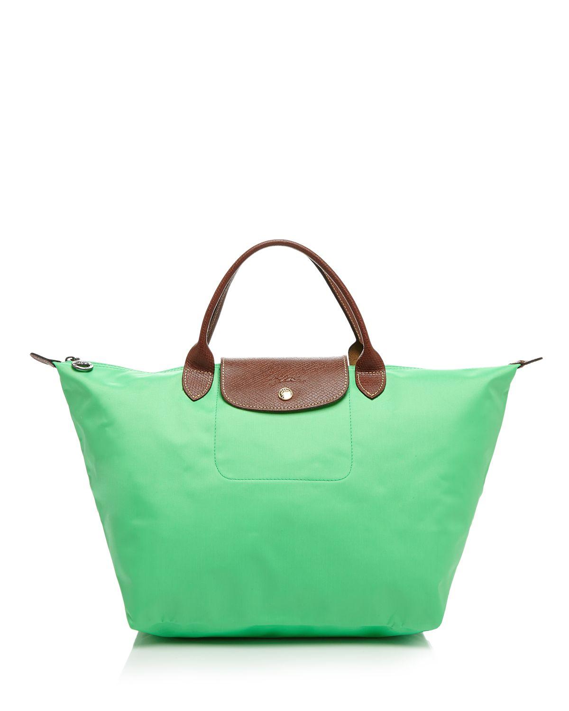 b034f210232 Lyst - Longchamp Tote - Le Pliage Medium Handheld in Green