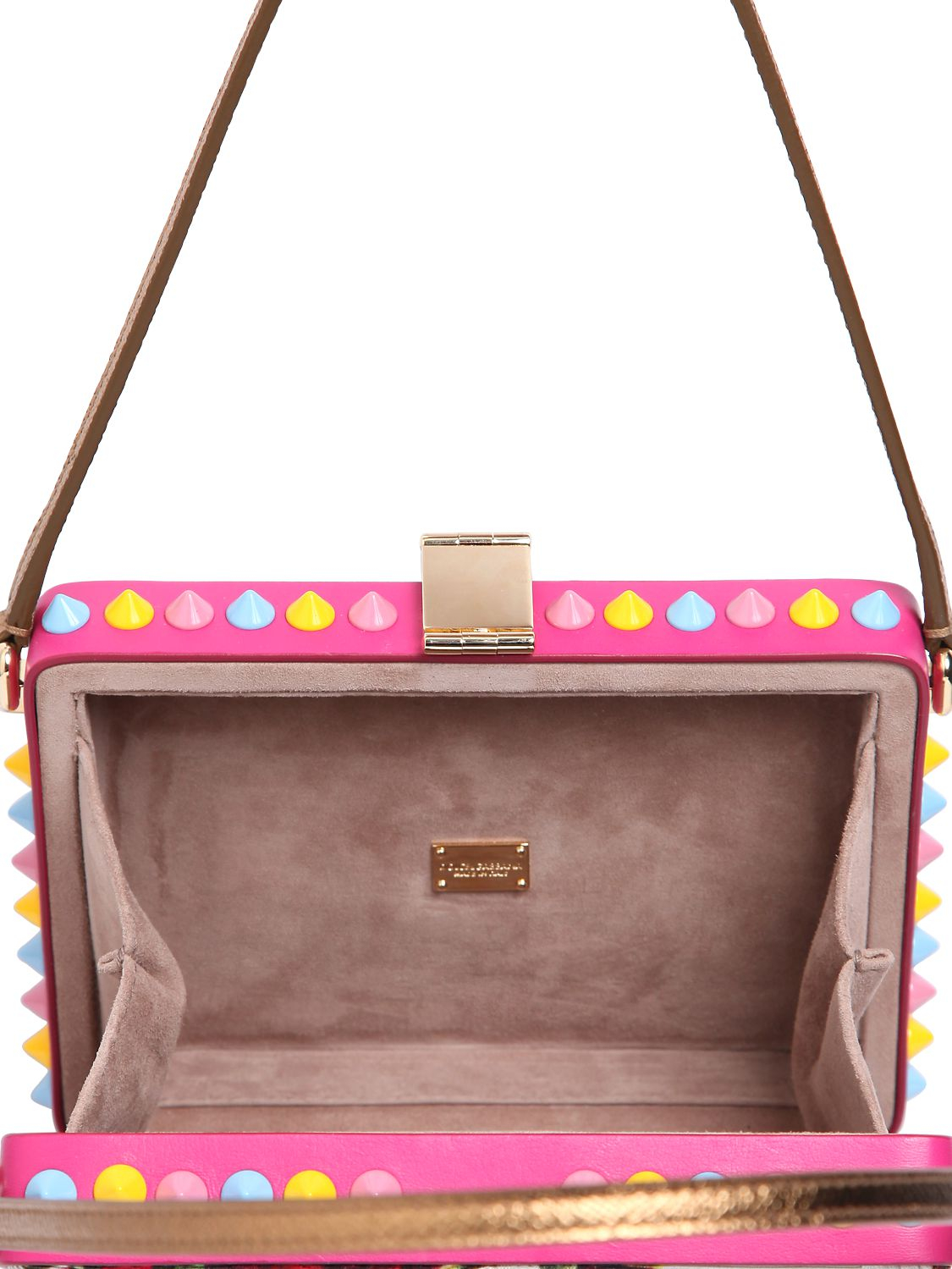 d5b12ffb8e6f Lyst - Dolce   Gabbana Dolce Mamma Embellished Brocade Bag