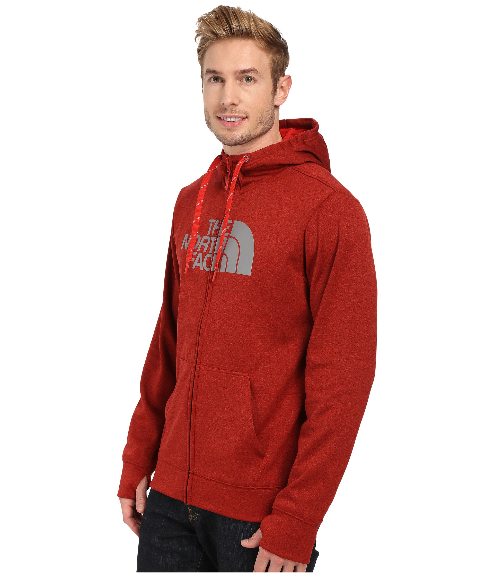 lyst the north face surgent half dome full zip hoodie in. Black Bedroom Furniture Sets. Home Design Ideas