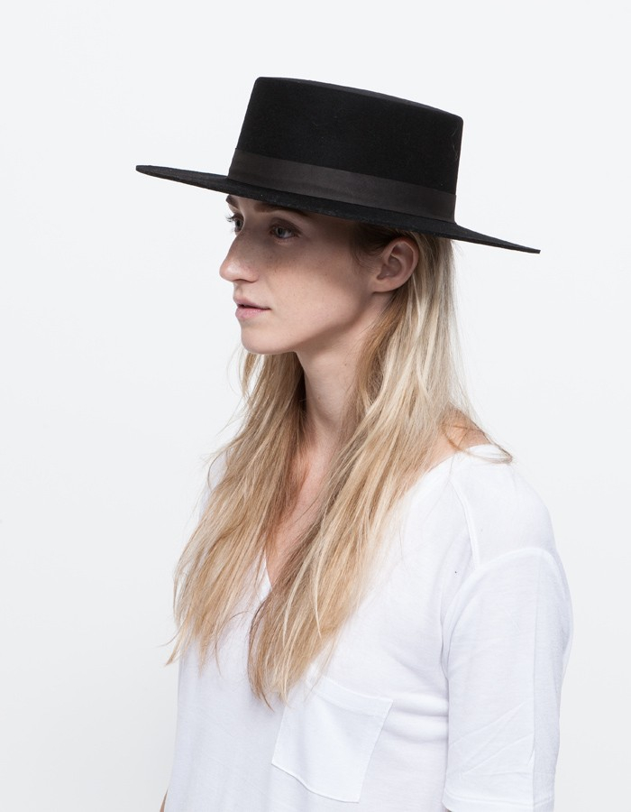Lyst - Janessa Leone Gabrielle Hat in Black 1bda3a067db