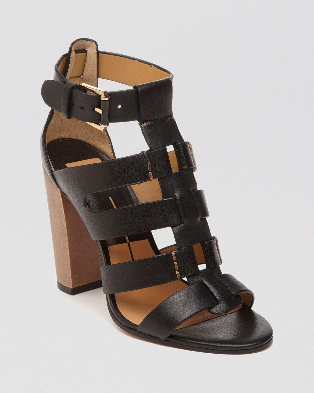 Dolce vita Open Toe Gladiator Sandals - Niro High Heel in Black   Lyst