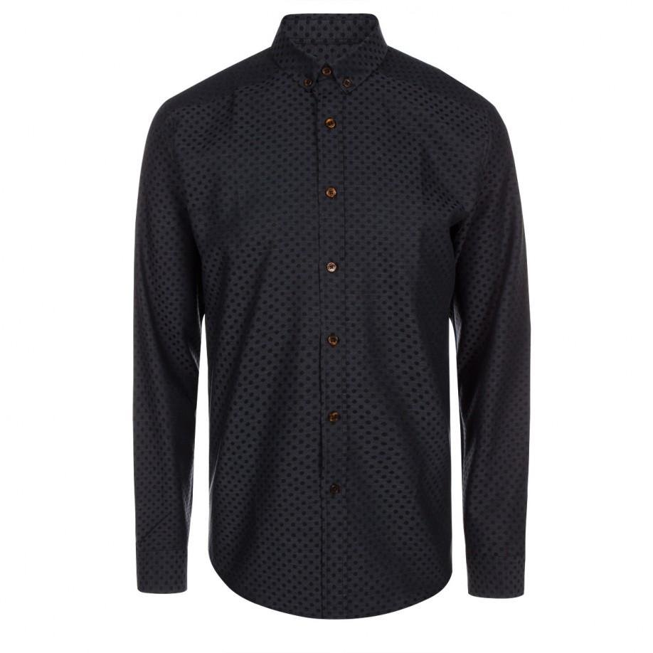 paul smith men 39 s grey polka dot button down shirt in gray
