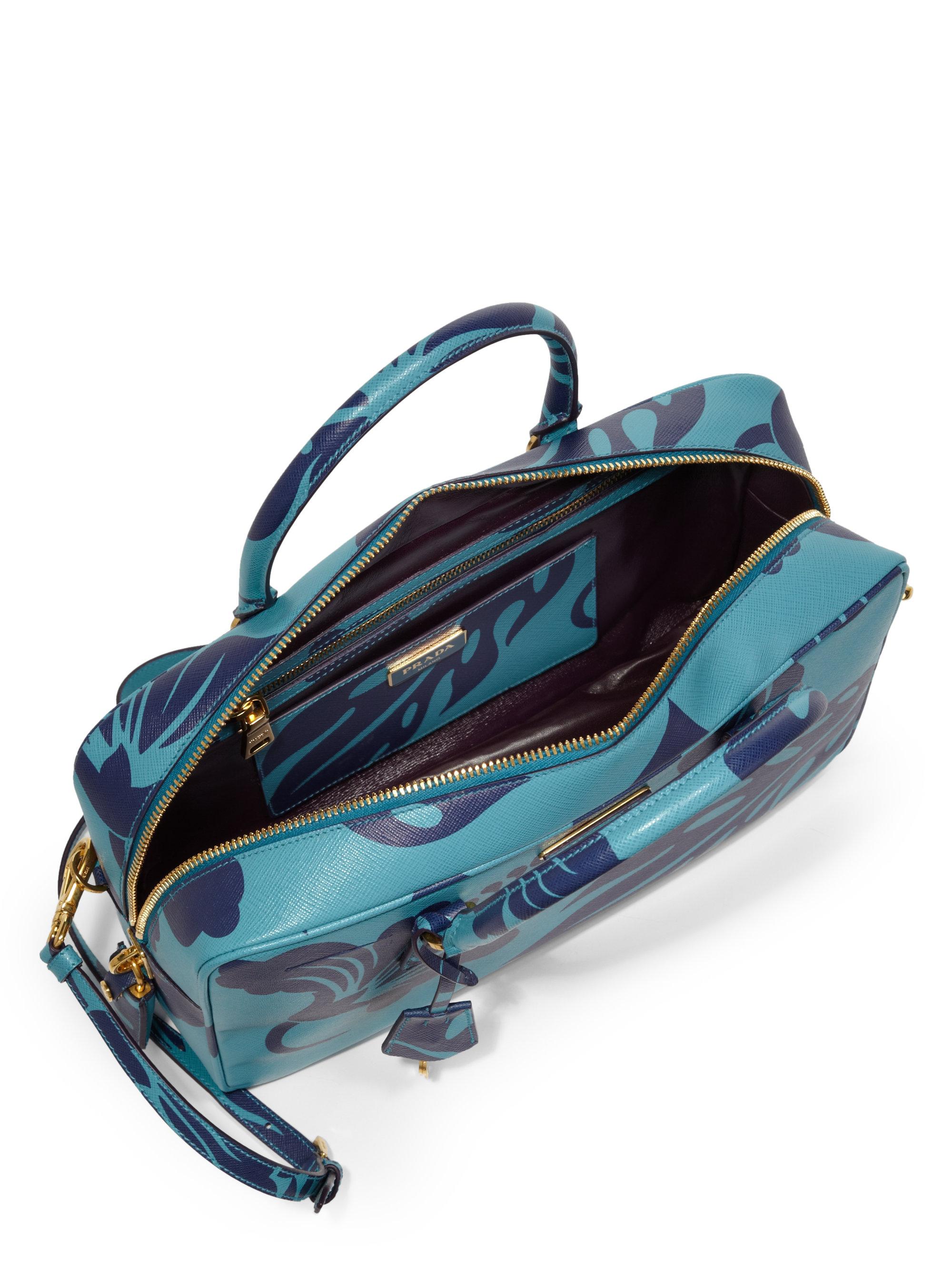 sell prada wallet - Prada Saffiano Print Tv Bag in Blue (TURQUOISE MULTI) | Lyst