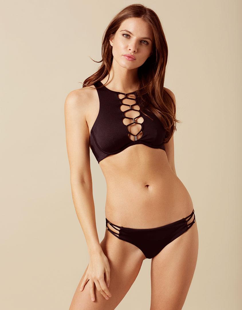 1c08a443ee Agent Provocateur Amerie Bikini Bottom Black in Black - Lyst