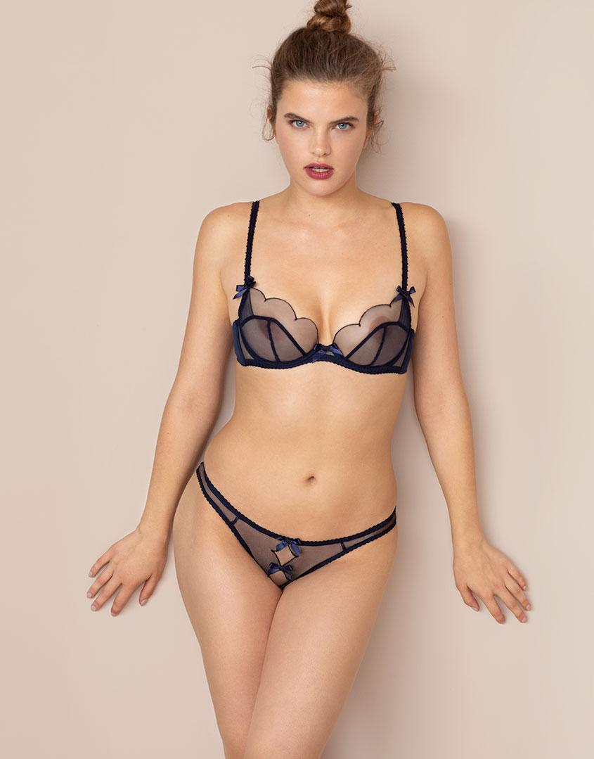 49b787f49b Agent Provocateur Lorna Ouvert Navy And Black in Blue - Lyst