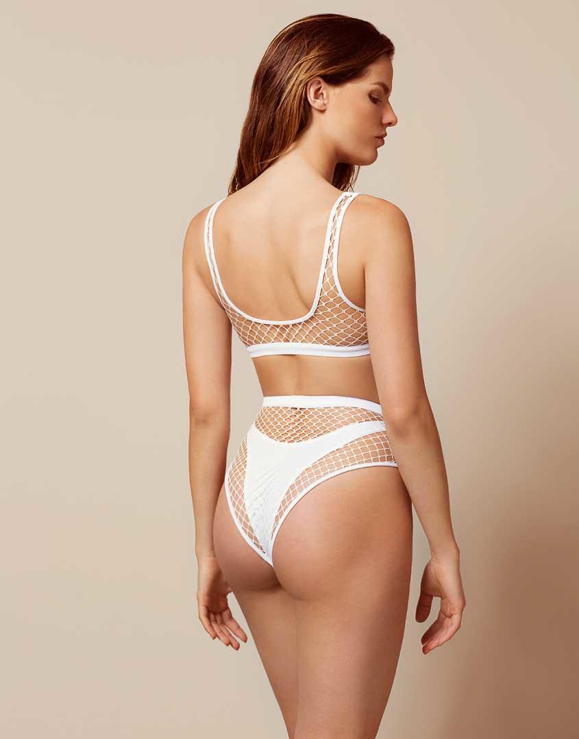 95e9b85800 Agent Provocateur Shannon Bikini Bottom White in White - Lyst