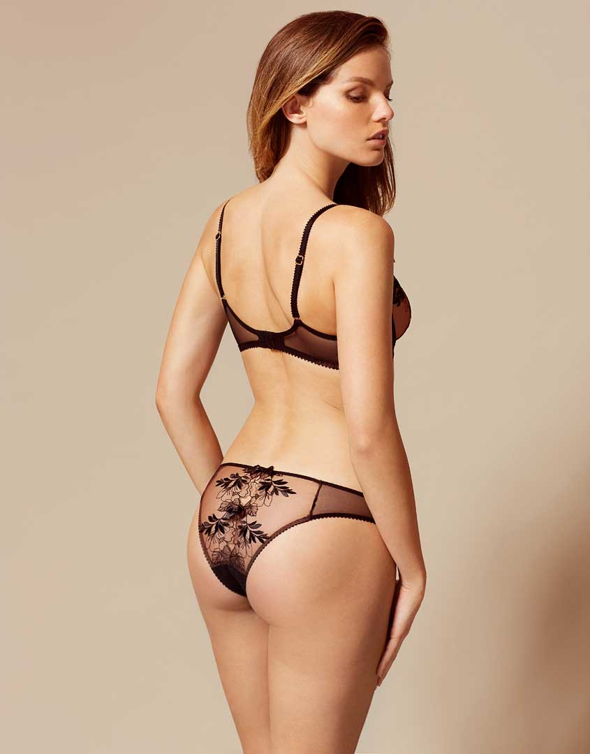 02453cc061 Lyst - Agent Provocateur Petra Ouvert Black And Cinnamon in Black