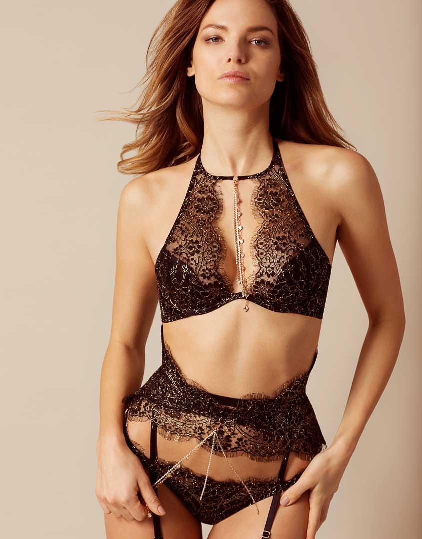 Gayle Porter >> Agent provocateur Gayle Bra Black And Gold in Black | Lyst