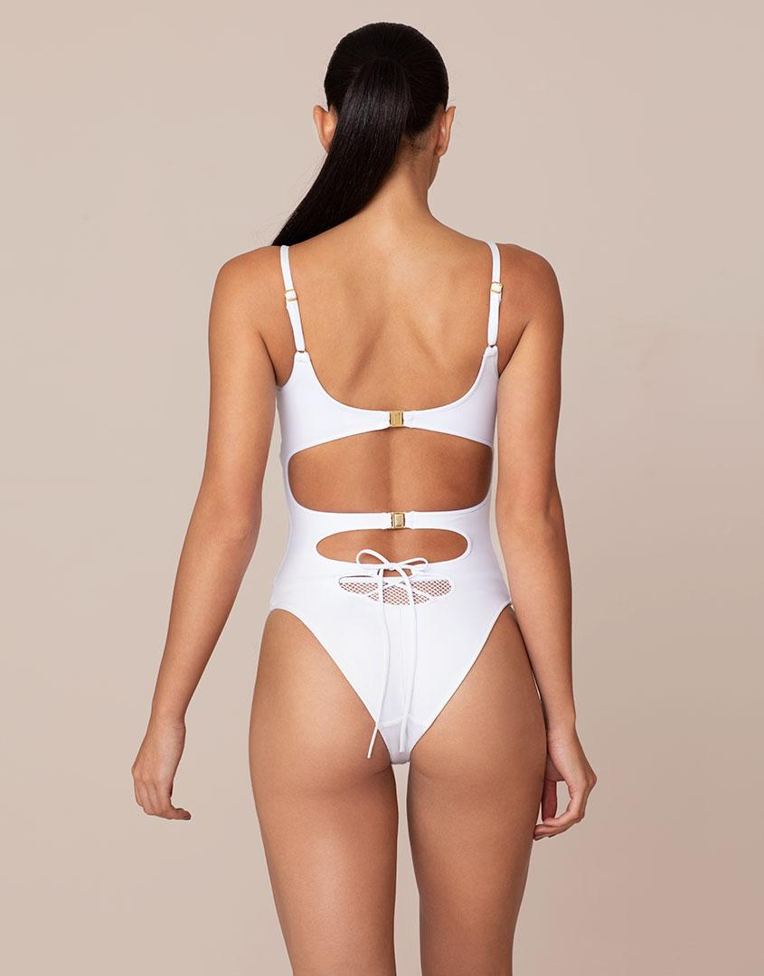 Lyst - Agent Provocateur Hatty Swimsuit White in White 4bf278fe6