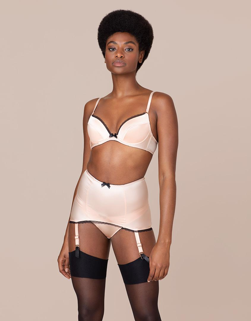 Agent Provocateur. Women s Felinda Fifties Style Suspender Nude And Black 6b1271fcd