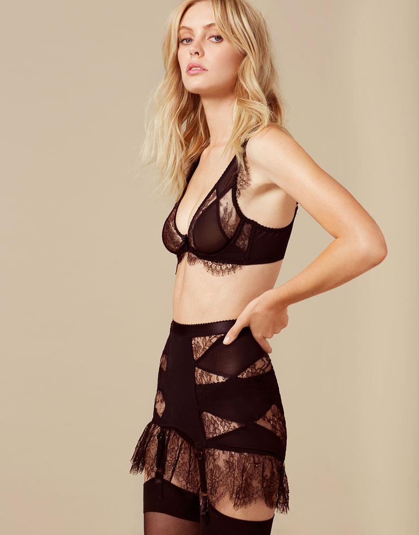 Lyst - Agent Provocateur Deanna Fifties Style Suspender Black in Black 114ba533f