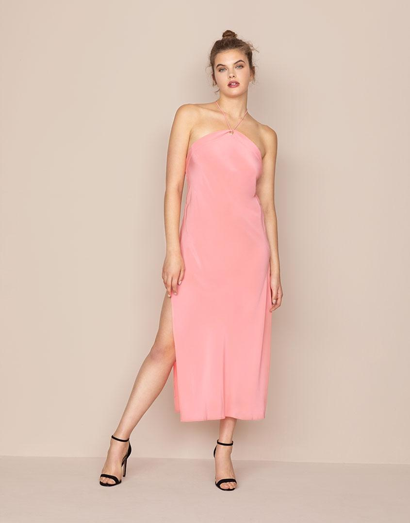 982eacc4127ae7 Lyst - Agent Provocateur Caprio Long Slip Pink in Pink