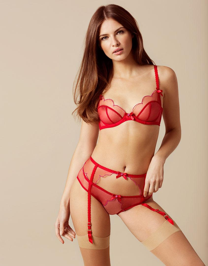 Lyst - Agent Provocateur Lorna Suspender Red And Pink in Red d2818e232
