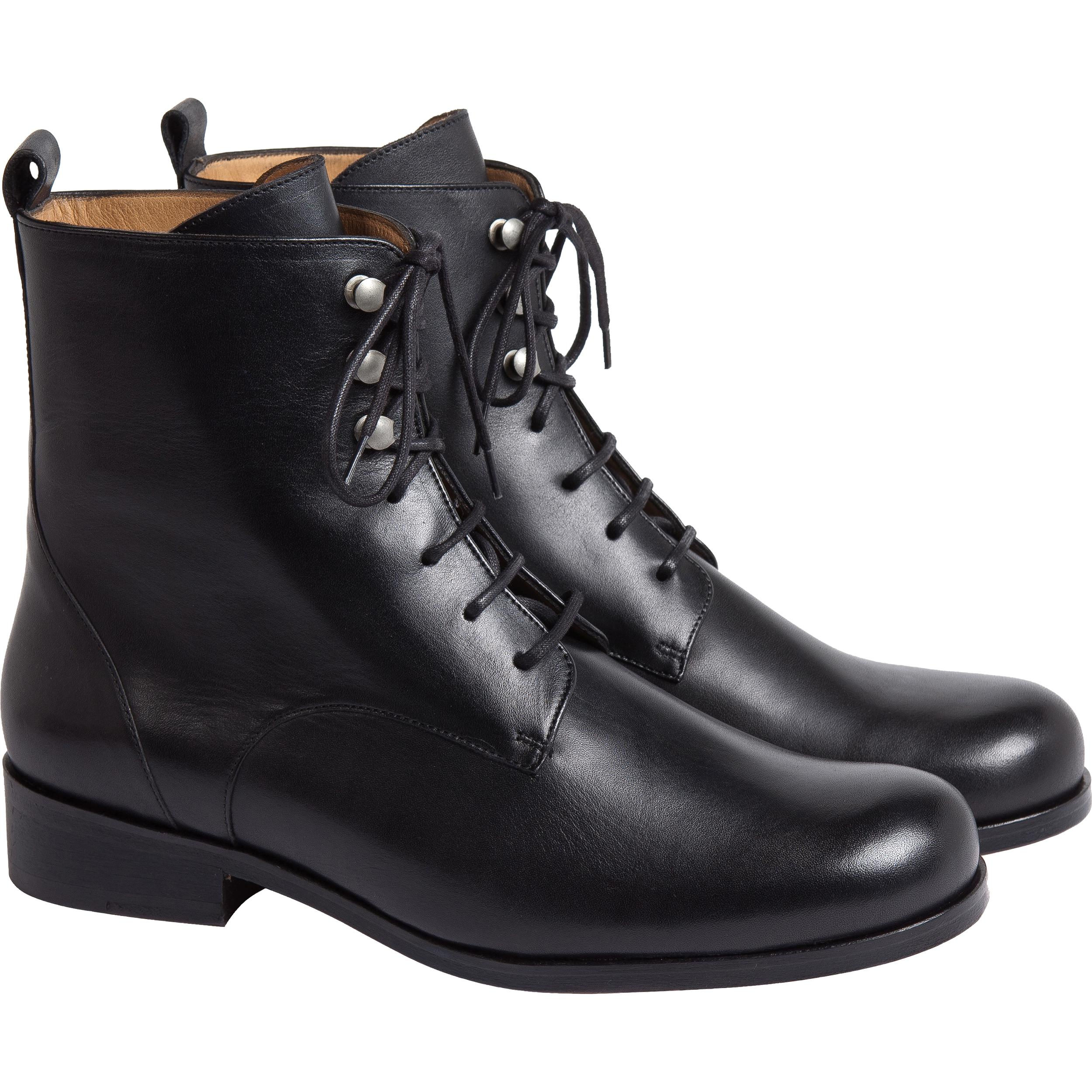 Lyst Agnes B Black Boots Jeanne In Black
