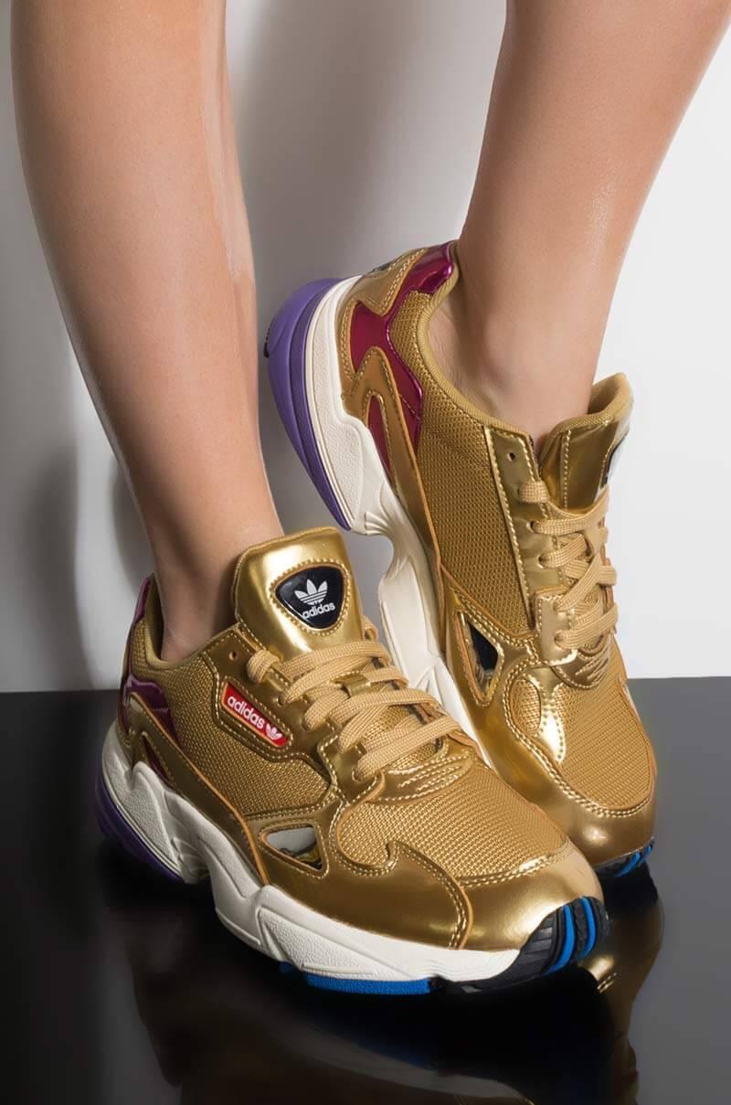 pretty nice f1ca4 9c886 adidas. Metallic Womens Falcon Sneaker