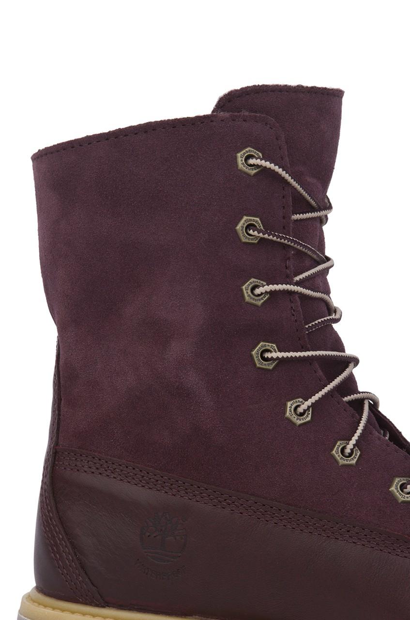 Fleece Fold Timberland Boot Lyst Authentics Women's Teddy Down w4Xnq7dx