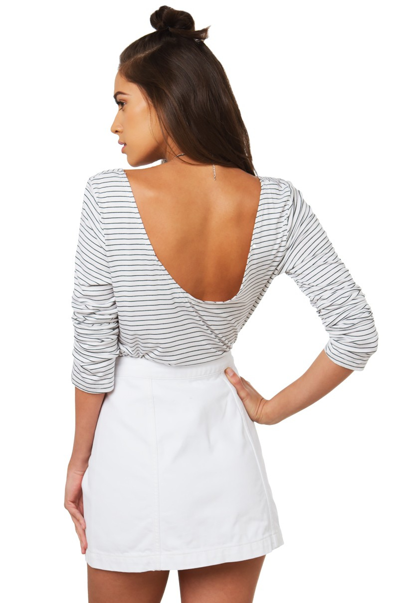 Akira for real longsleeve top in white lyst for Akira long sleeve shirt