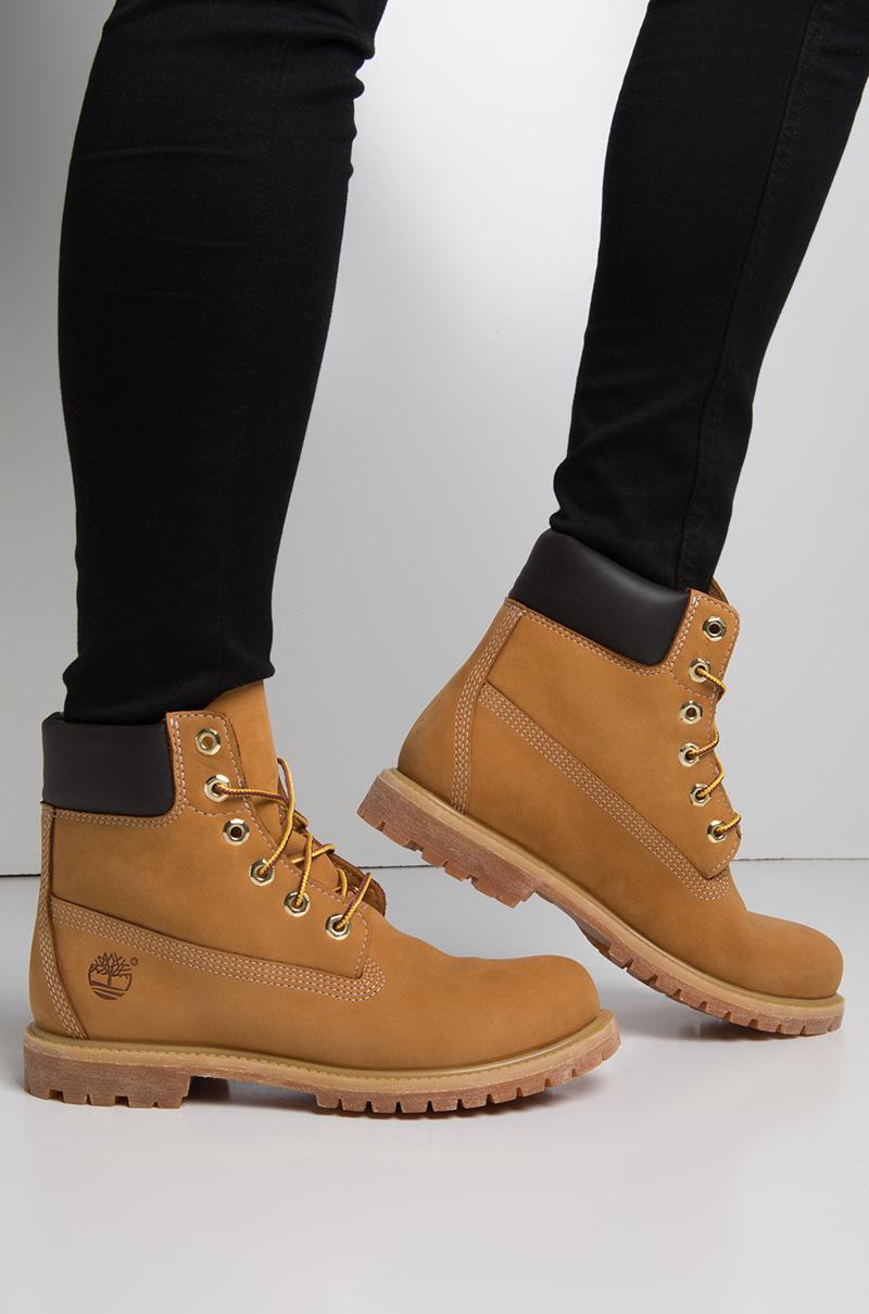 Timberland Multicolor Women's 6 inch Premium Waterproof Boot Wheat Nubuck