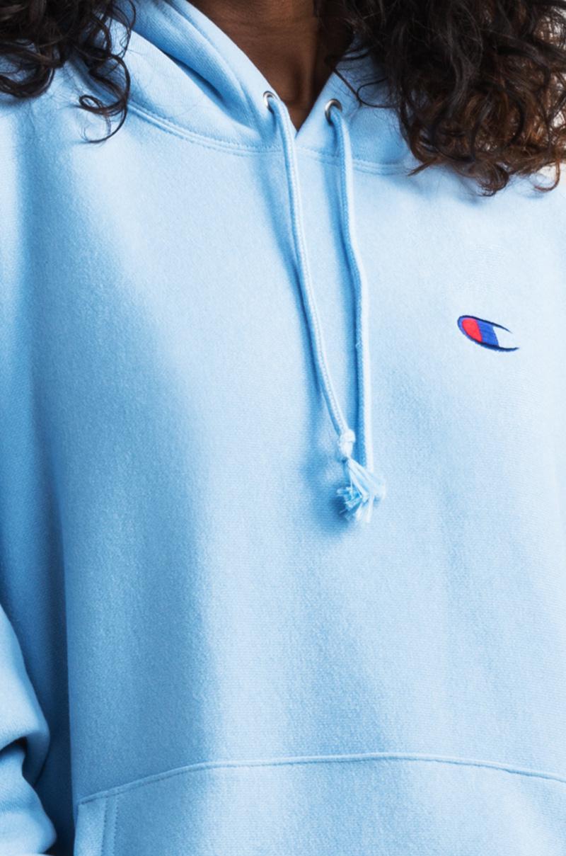Lyst Champion Pocket Logo Reverse Weave Pullover Hoodie