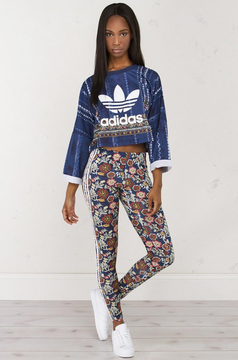 0780a22e8d84 Lyst - adidas Originals X The Farm Company Cirandeira Crop Sweater ...