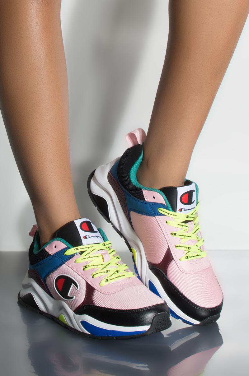 05e63911dbb Lyst - Champion 93 Eighteen Block Sneaker In Pink Multi in Pink