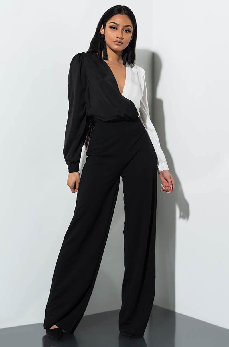 4884f668410 Lyst akira night out wide leg jumpsuit in black jpg 800x1209 Fergie wide  jumpsuit