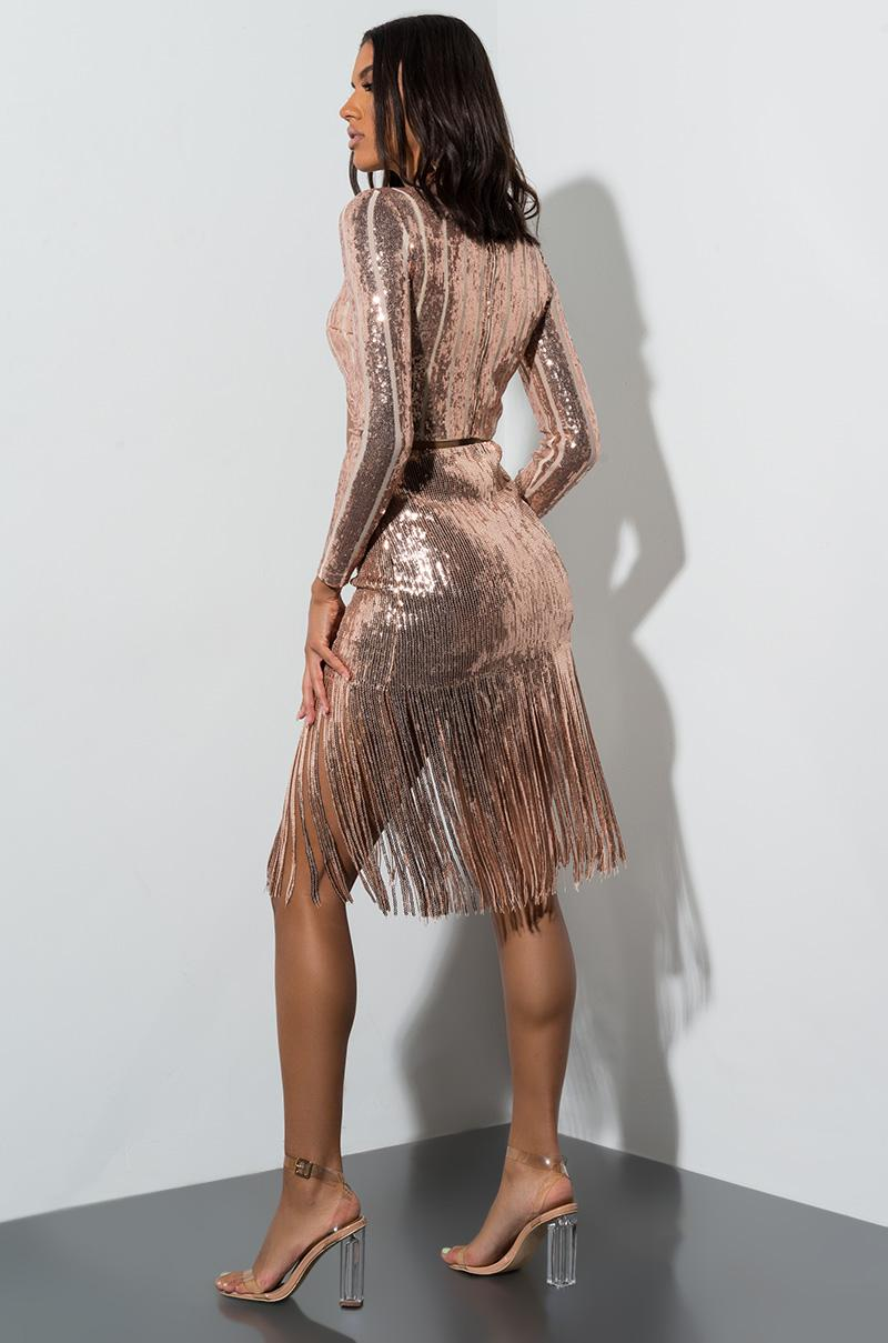 c7cc523d60 Akira - Multicolor Spent The Night Sequin Fringe Mini Skirt - Lyst. View  fullscreen
