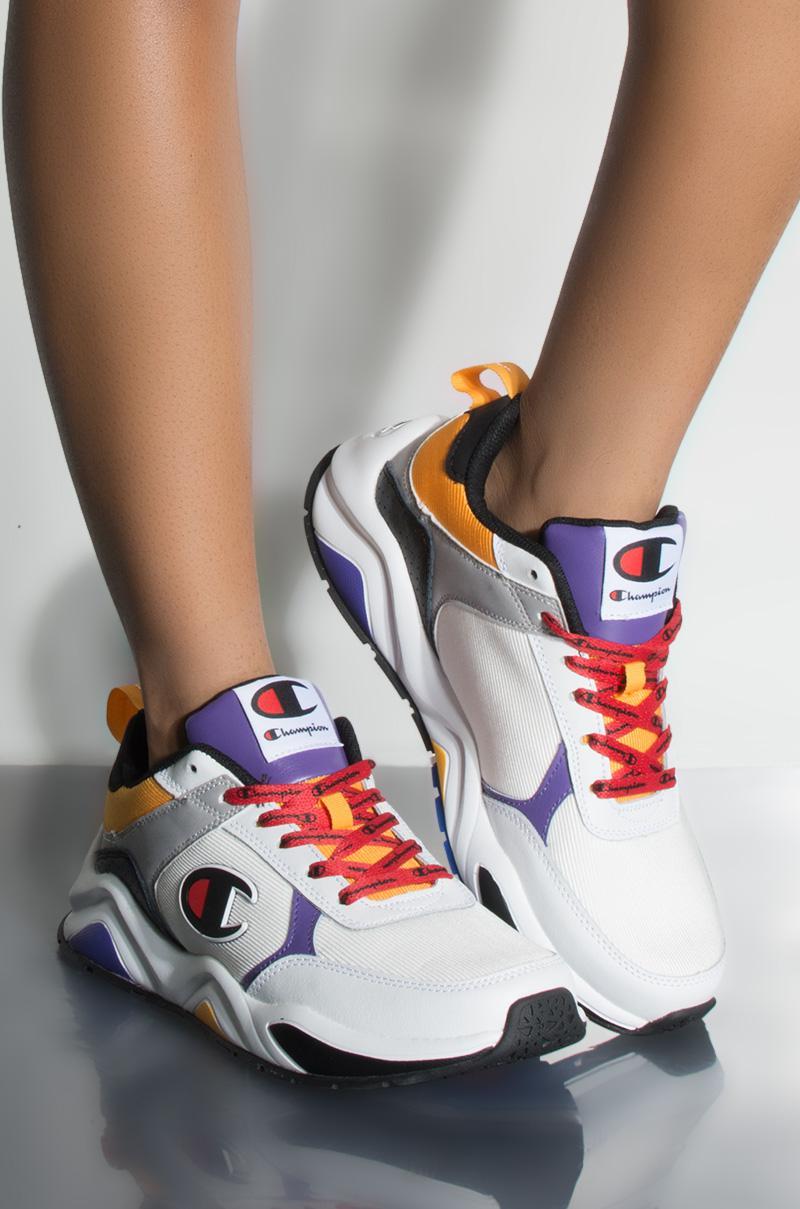 28474e75857 Lyst - Champion 93 Eighteen Block Sneaker In White Multi in White ...