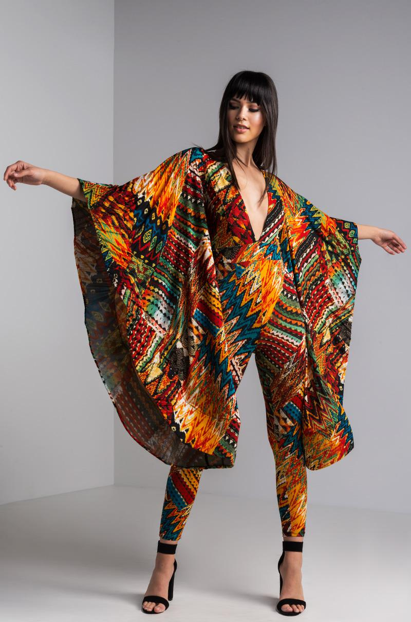 Patterned Jumpsuit Cool Design