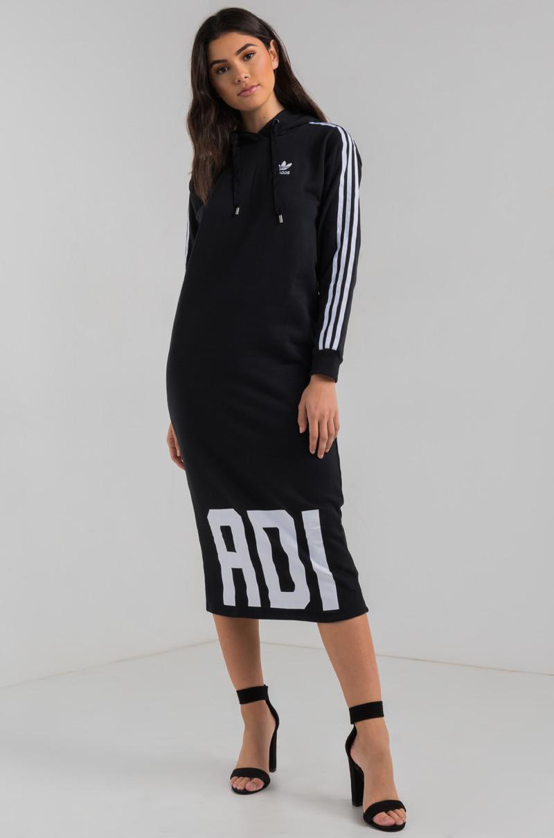 In Bold Lyst Adidas Hoodie Akira Midi Age Dress Black gZ46axnZ