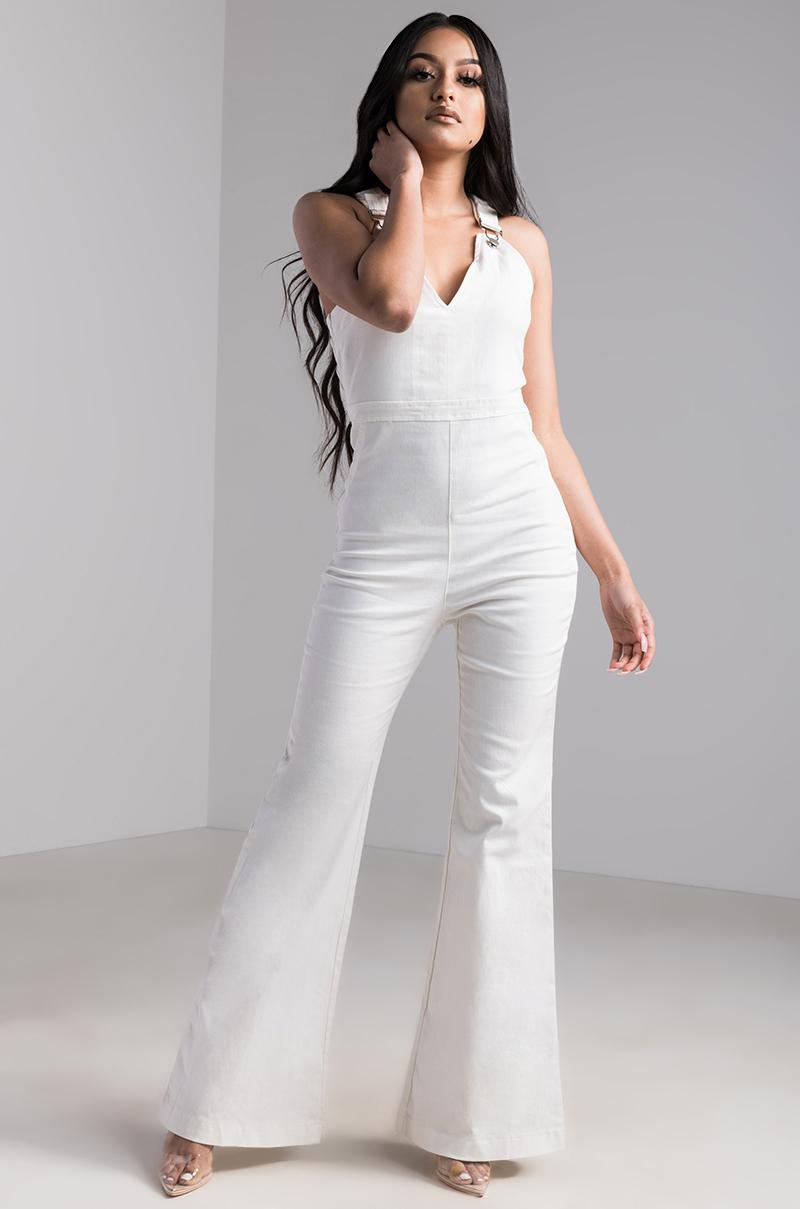 cb9c2d743eab AKIRA What A Coincidence Overall Jumpsuit in White - Lyst
