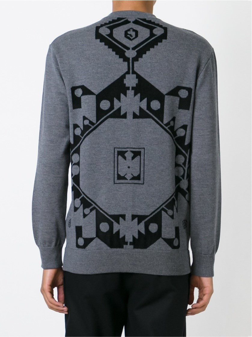 givenchy intarsia sweater in black for men lyst. Black Bedroom Furniture Sets. Home Design Ideas