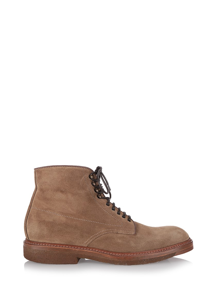 henderson beige suede boots in brown for lyst