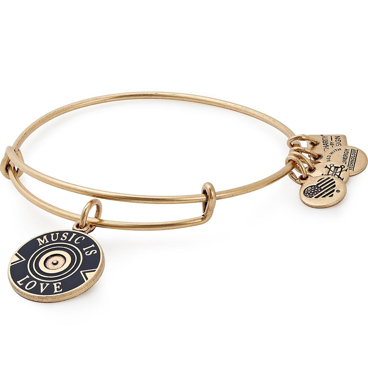 e937110e611010 Lyst - ALEX AND ANI Music Is Love Charm Bangle Vh1 Save The Music ...