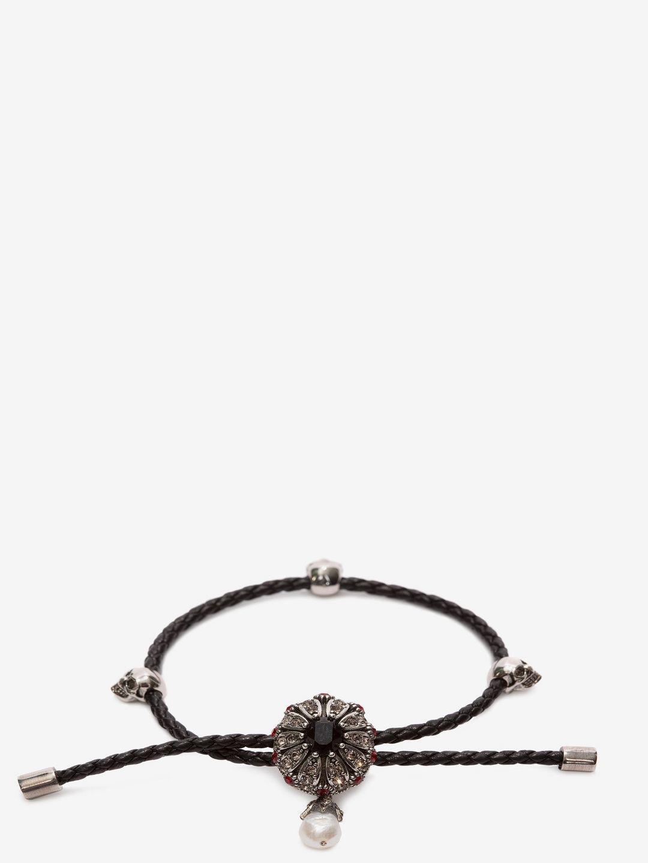 Alexander McQueen jewel charm Nappa bracelet - Red hz4euGOZ