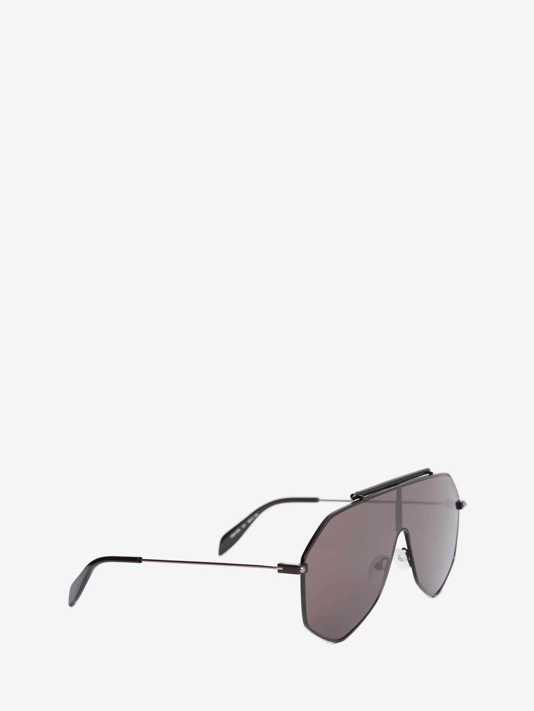 2c5fa3d0289 Alexander McQueen - Black Piercing Frame for Men - Lyst. View fullscreen