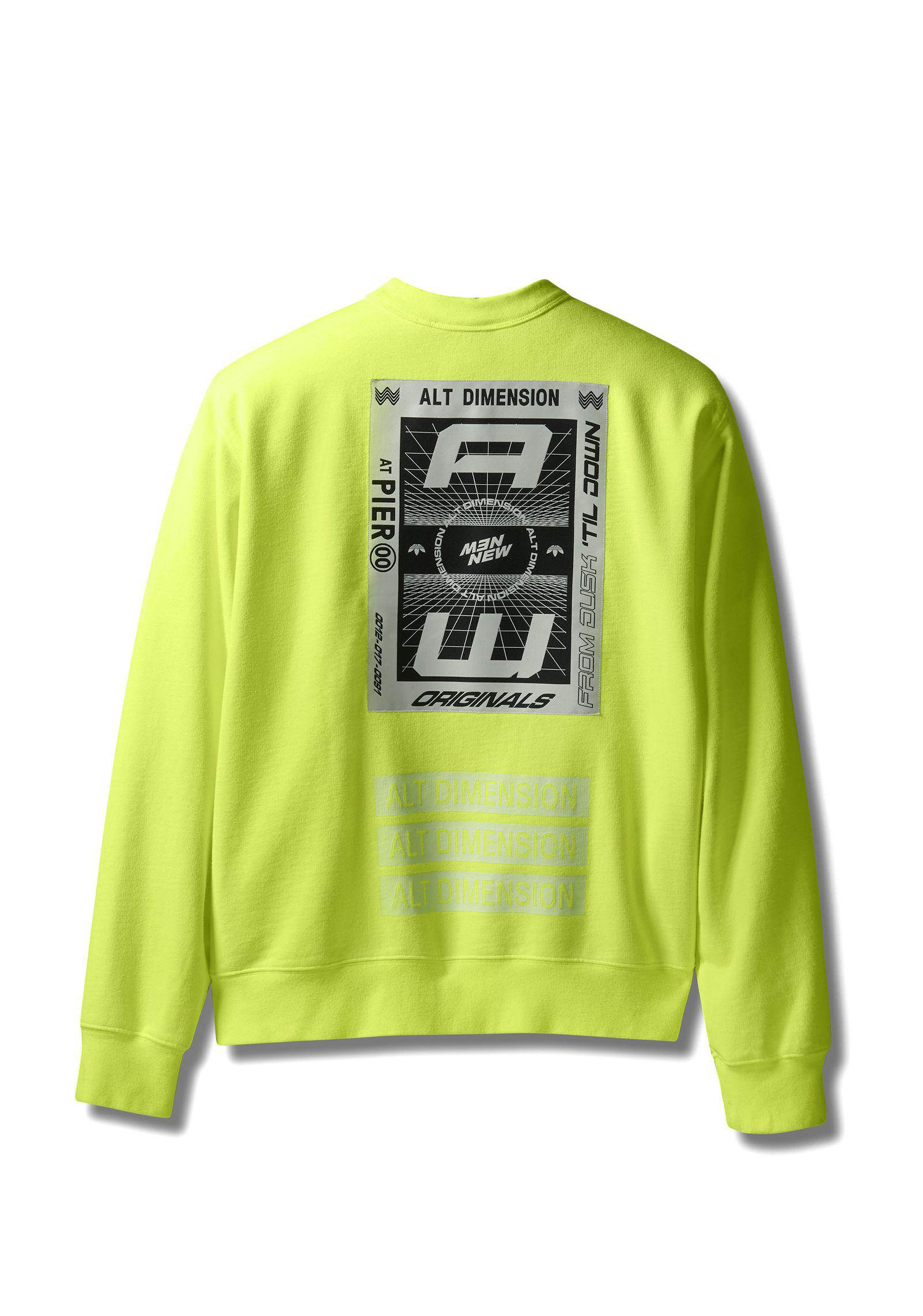 99bea922cd7 Alexander Wang Adidas Originals By Aw Bleach Crewneck in Yellow for ...