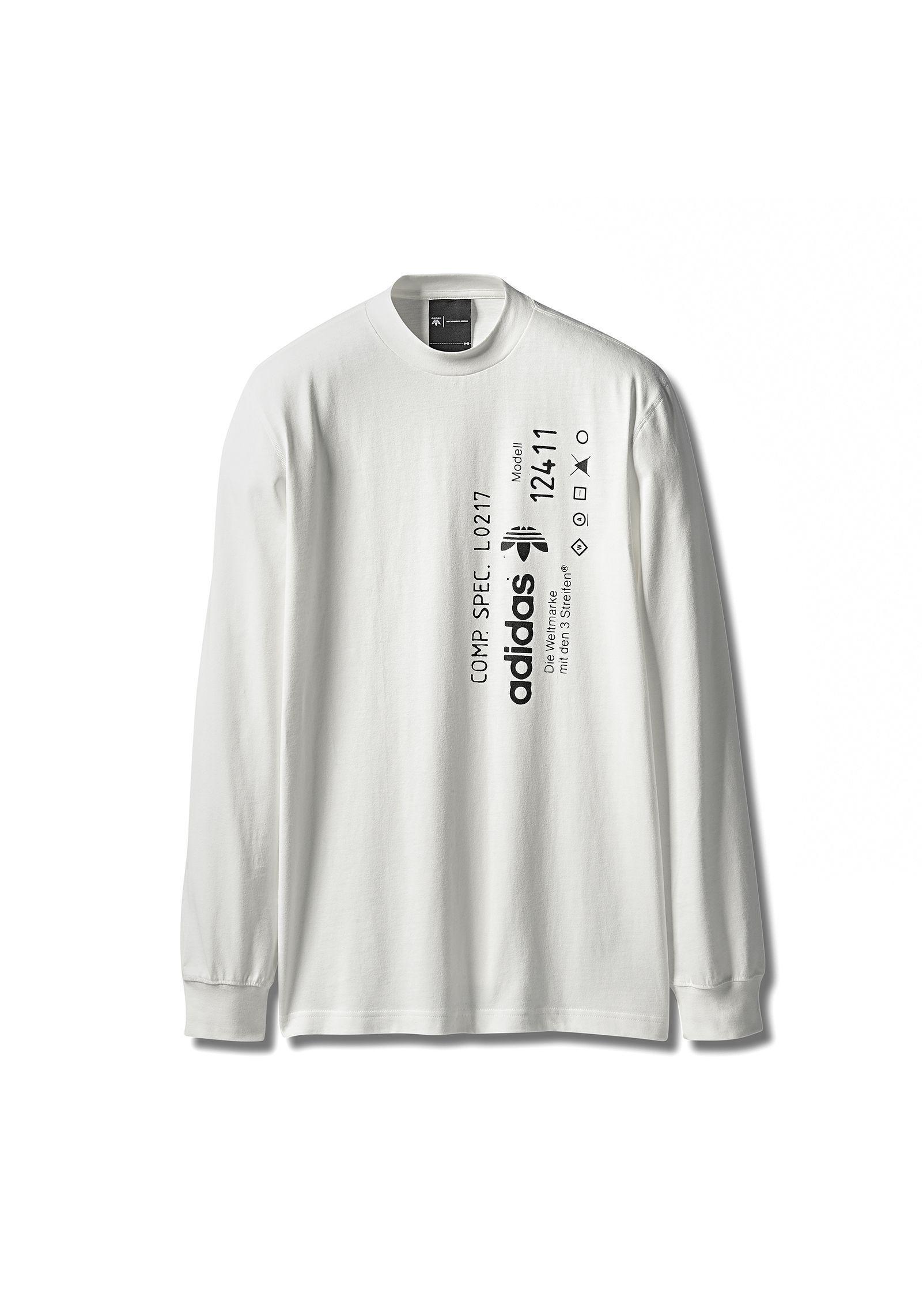 3d18da11cd0b Alexander Wang Adidas Originals By Aw Graphic Long Sleeve in White ...