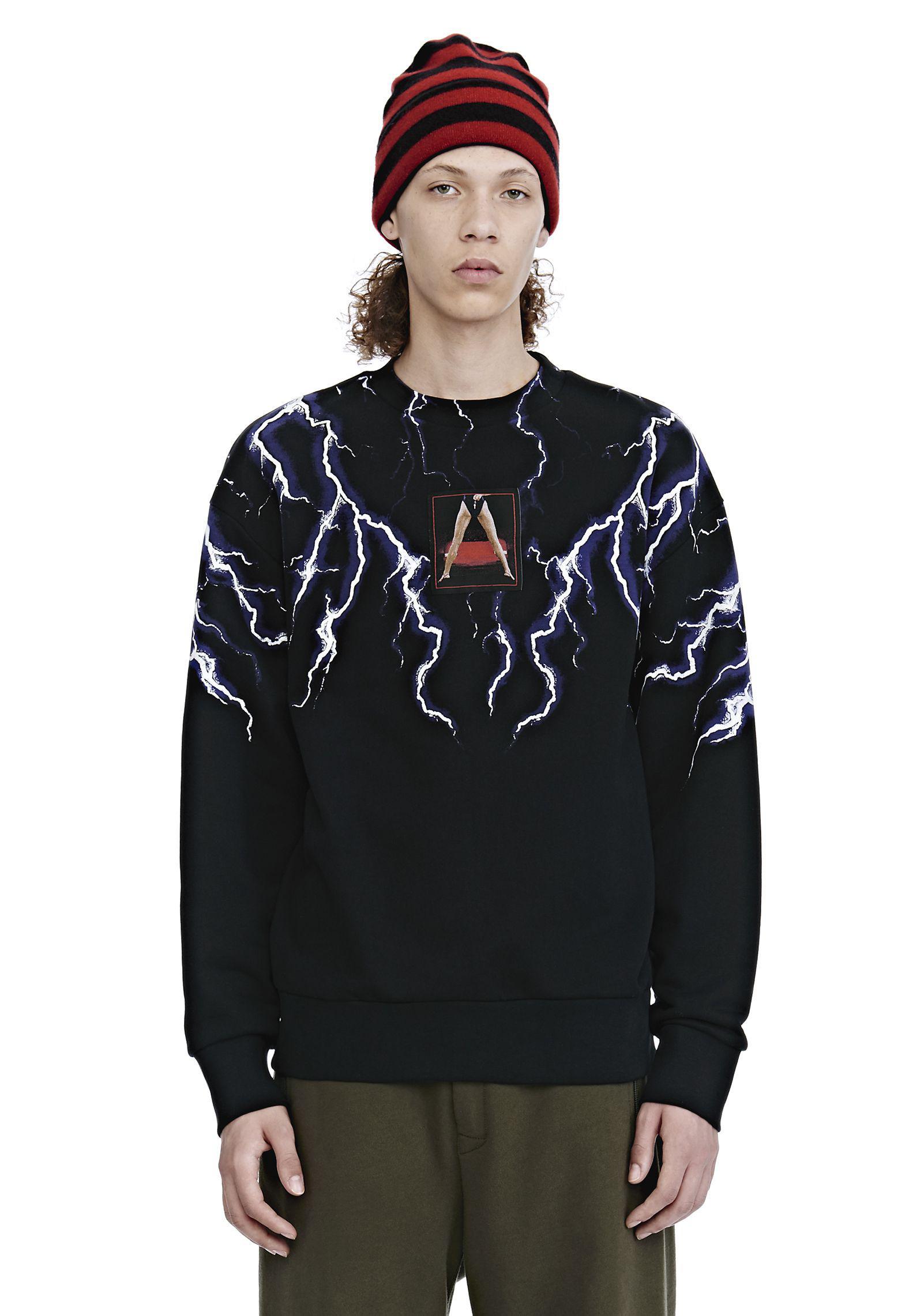 27536980 Alexander Wang Lightning Collage Sweatshirt in Black for Men - Lyst