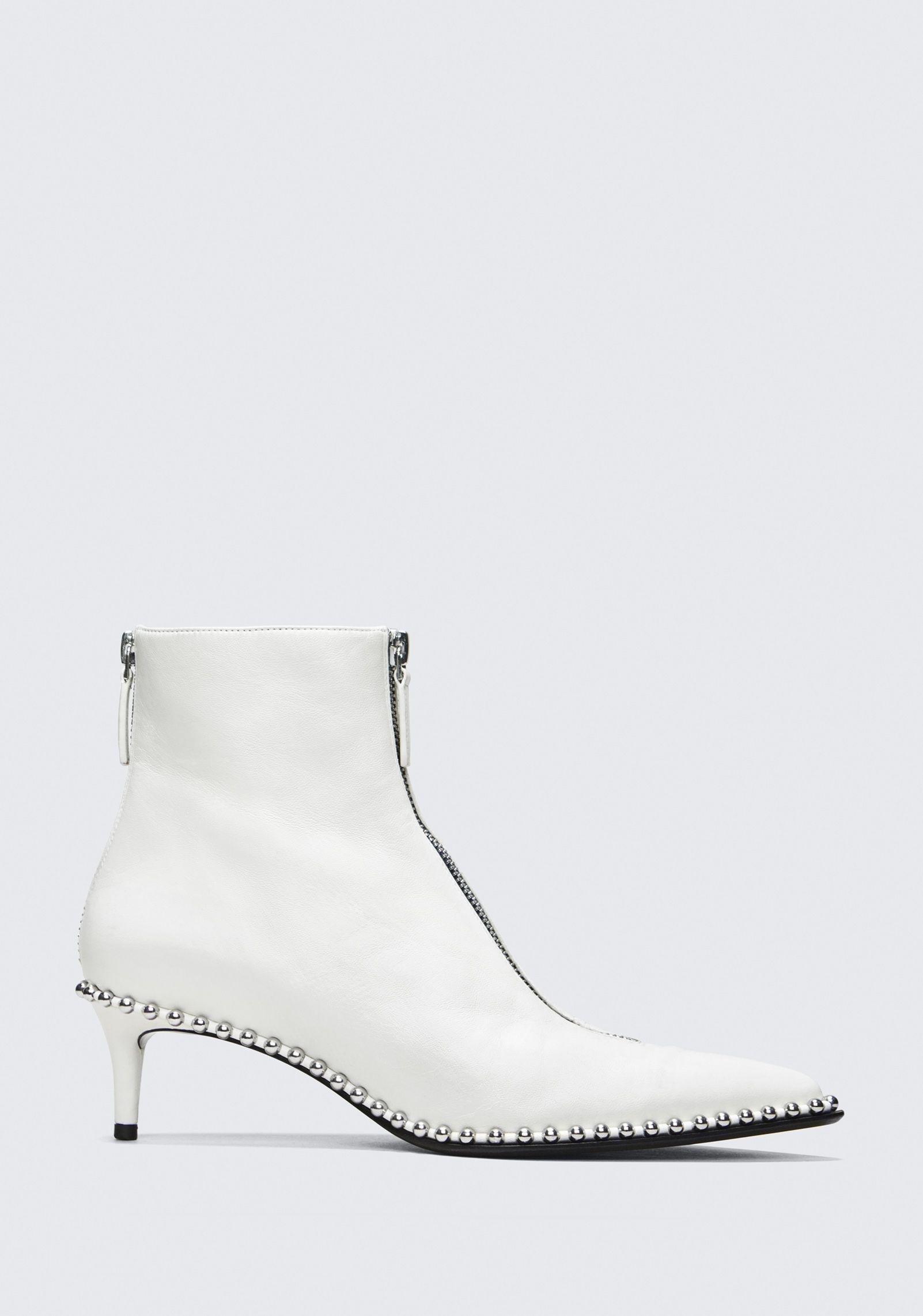f9fb95eac26 Lyst - Alexander Wang Eri Kitten Heel Bootie in White