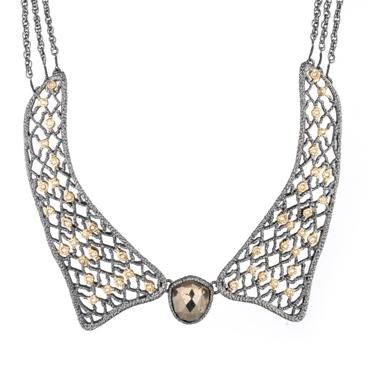 Alexis bittar jardin gold lace collar necklace you might for Jardin necklace