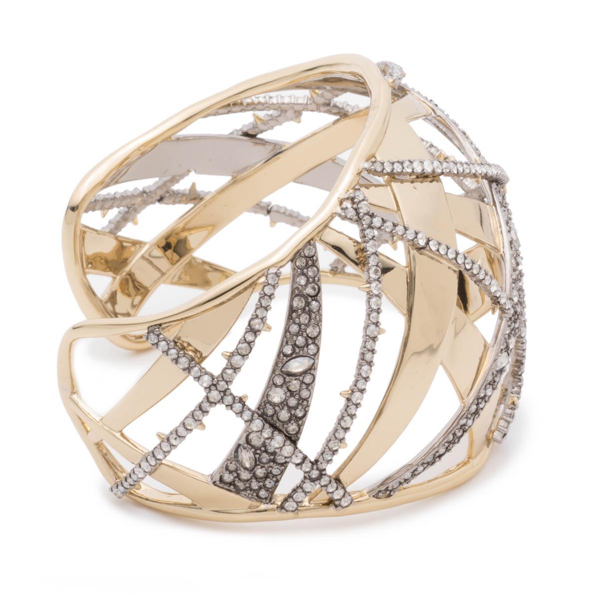 Alexis Bittar Crystal Encrusted Plaid Cuff Bracelet pTgcUwpG