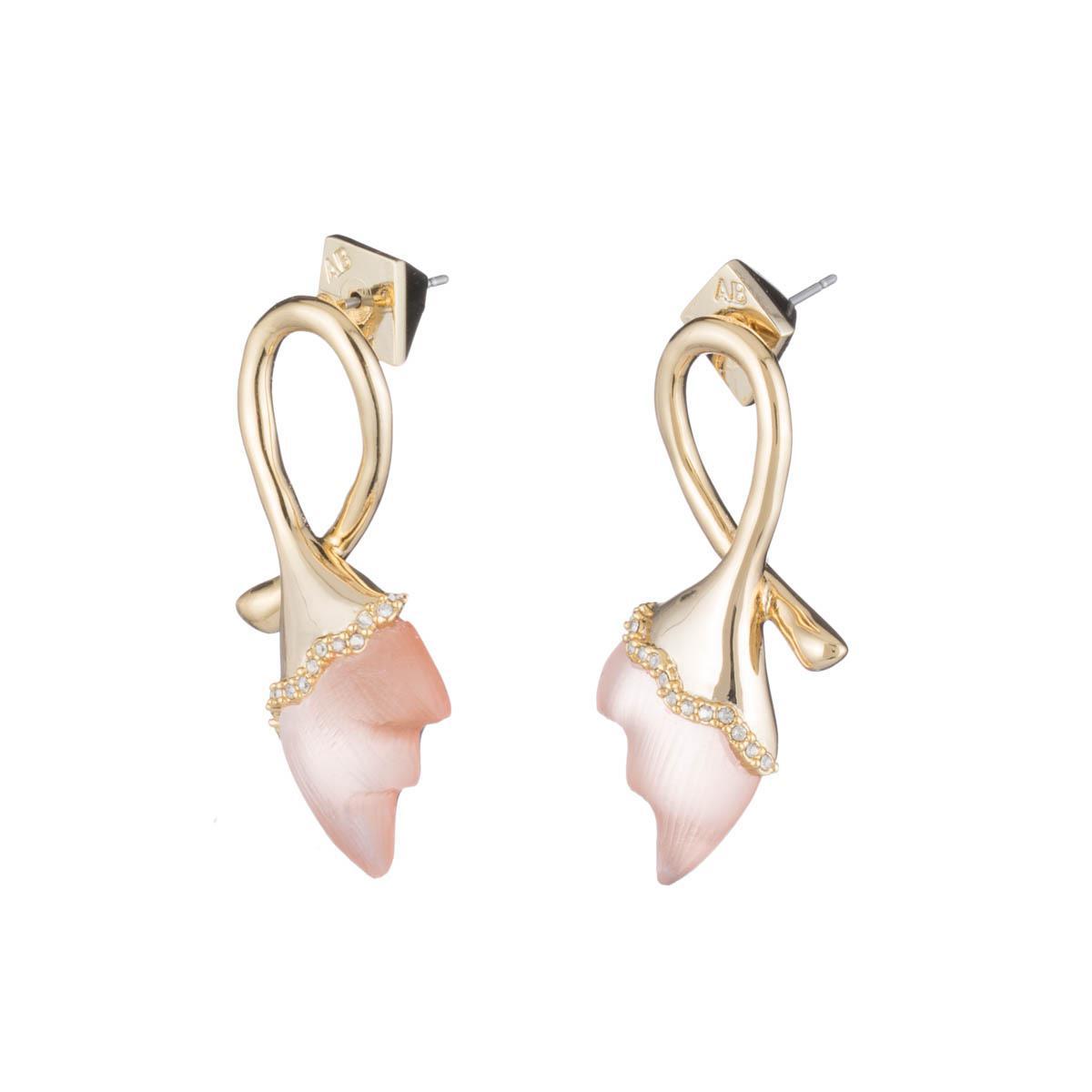 Alexis Bittar Crystal Encrusted Tulip Post Earring 6SGM1RNb