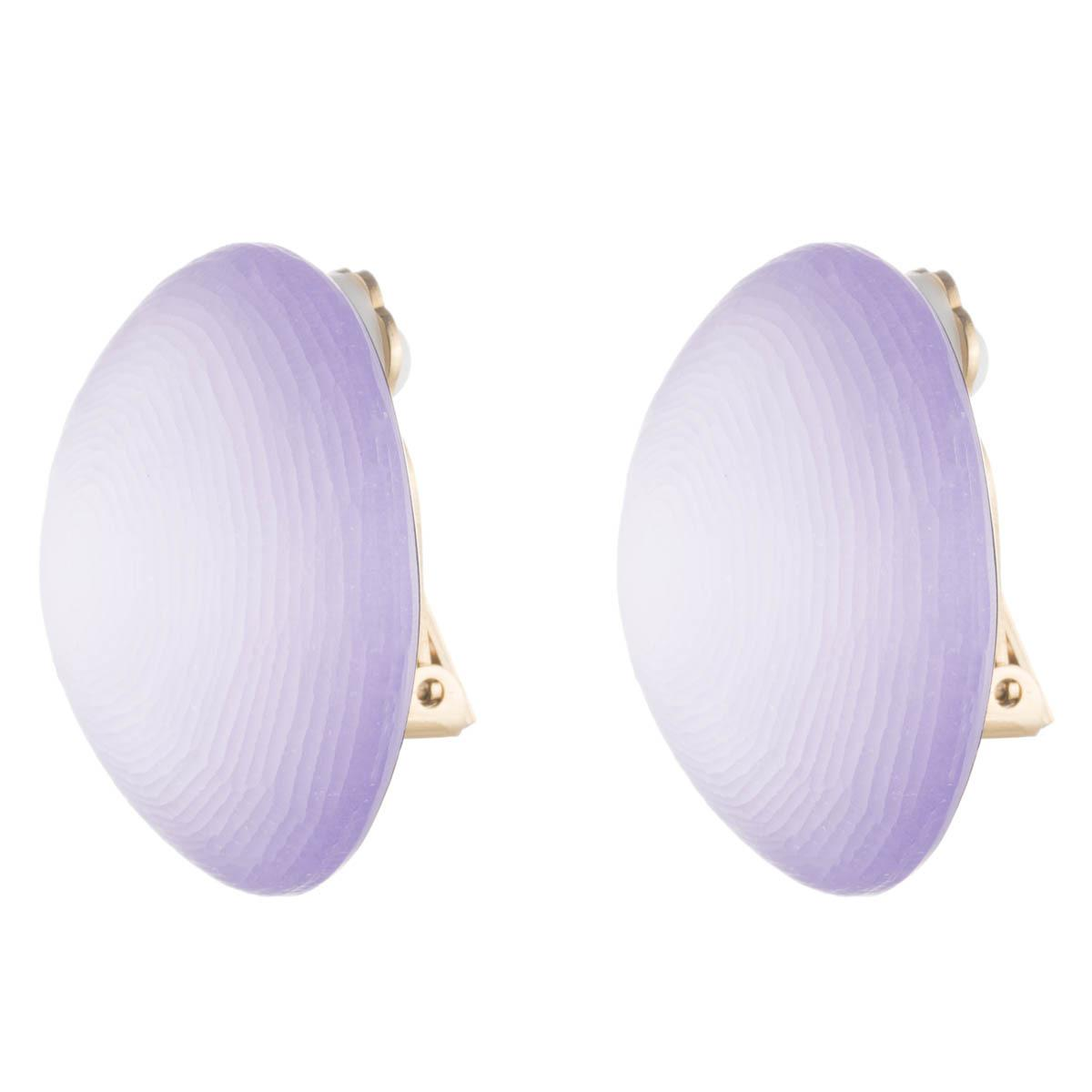 Alexis Bittar Medium Dome Clip Earring Lilac