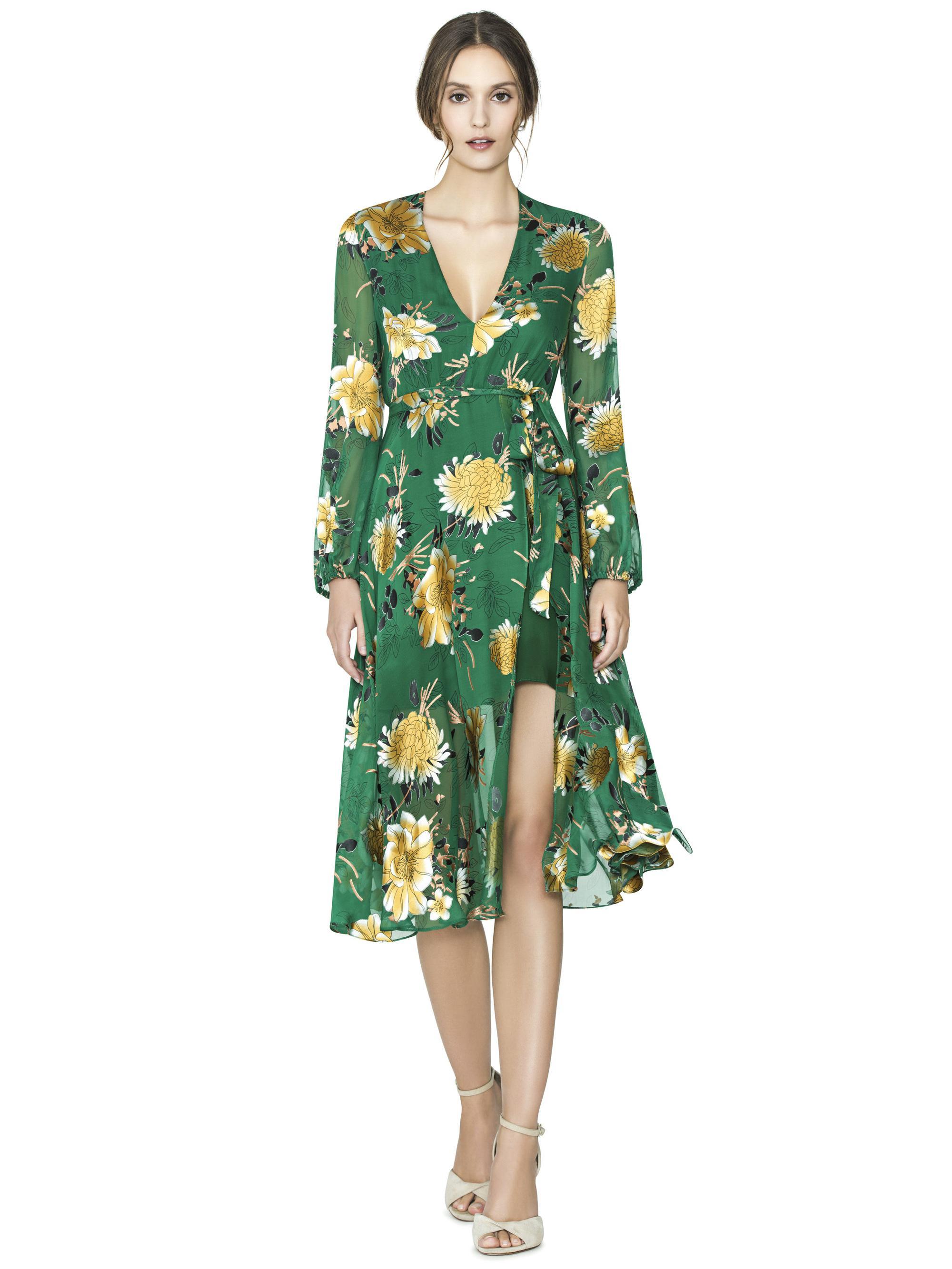 Green Mid Length Dresses