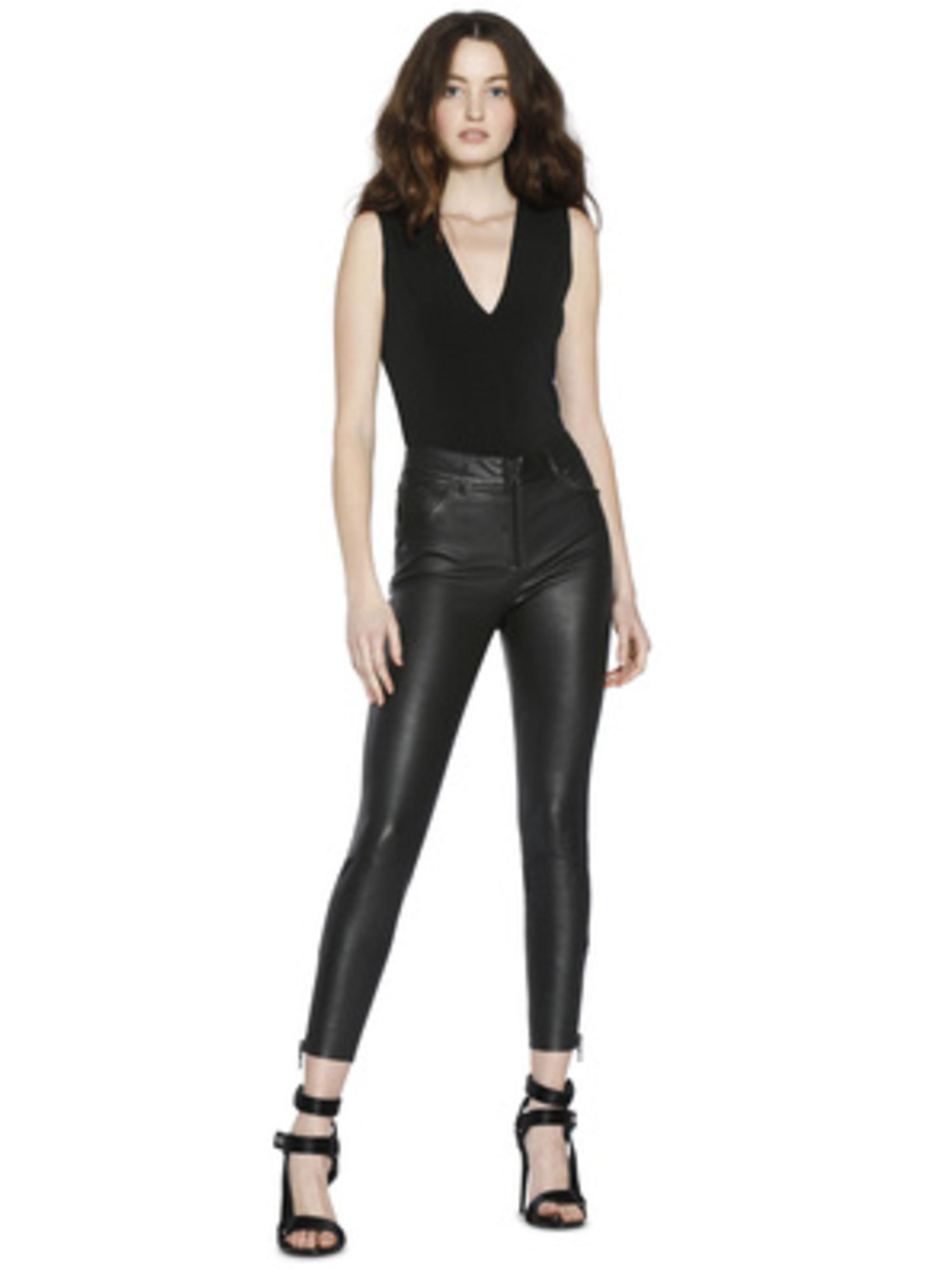 b32f8a4b913da Lyst - Alice + Olivia Marley Sleeveless Thong Bodysuit in Black
