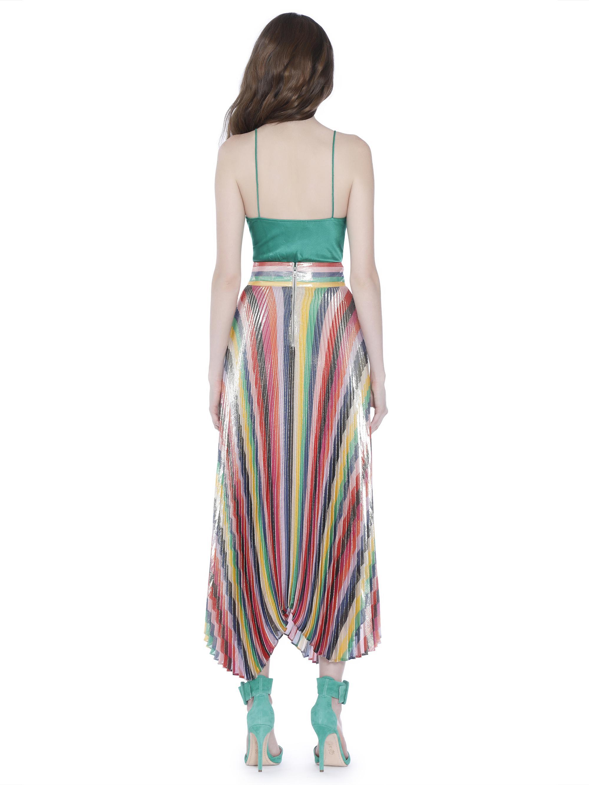 4db63b6a8 Alice + Olivia Katz Sunburst Pleat Midi Skirt - Lyst
