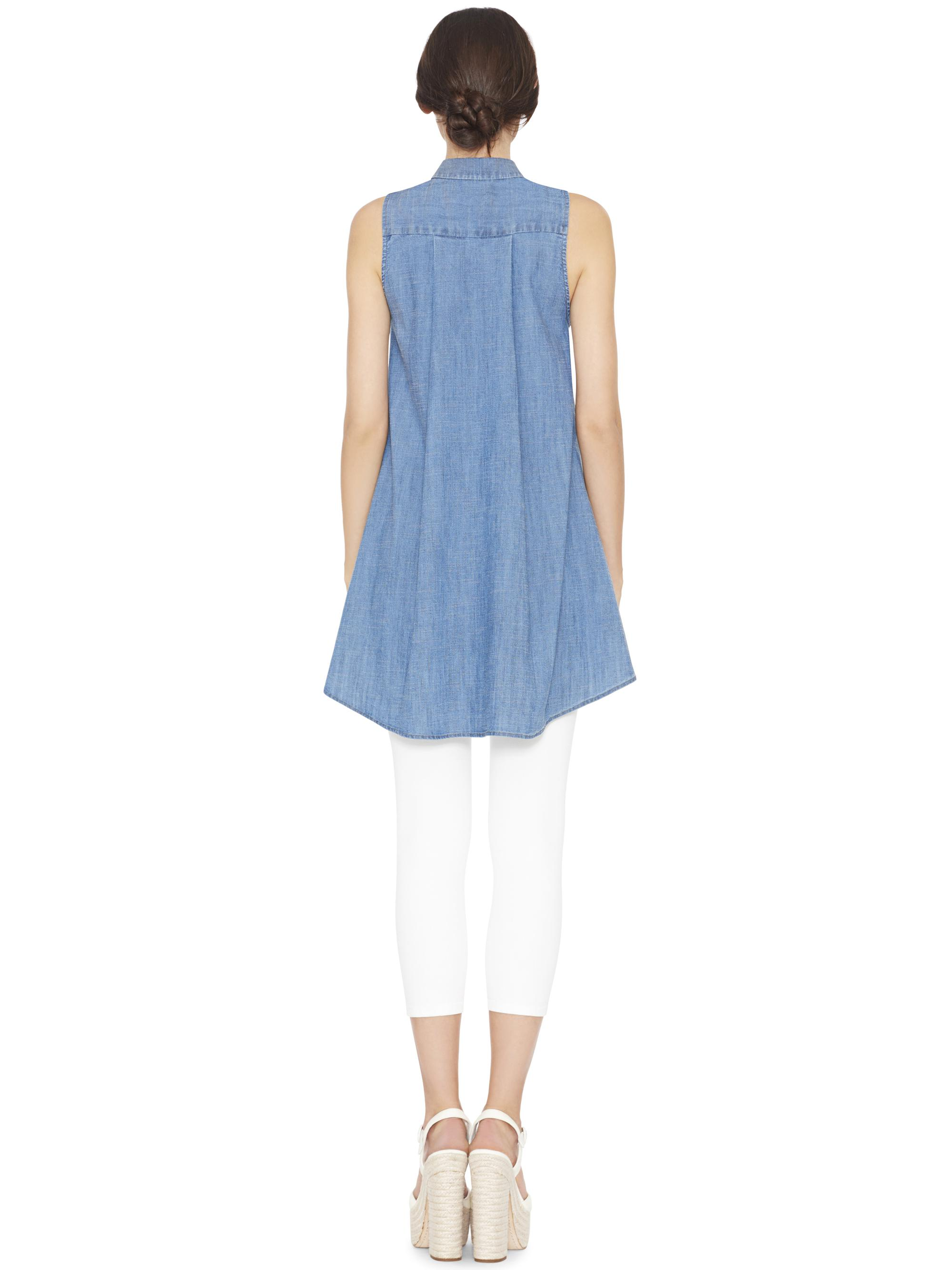 8ebaa9fbdfa Alice + Olivia Anisa Sleeveless Flowy Tunic Top in Blue - Lyst